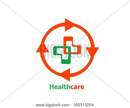 Medical Cross Abstract Logo Design Template. Pharmacy, Medicine, Clinic Logotype Concept. Pharmaceut