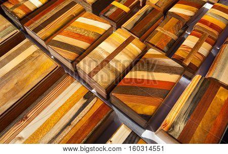 Sale of caskets of mahogany cigar. Cuba. Varadero.