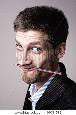 Young Man With Pencil