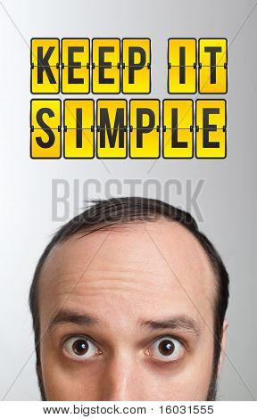 """Man With """"keep It Smile"""" Mark Over His Head"""
