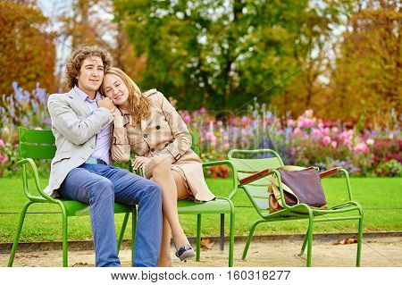 Couple Having A Date In The Tuileries Garden