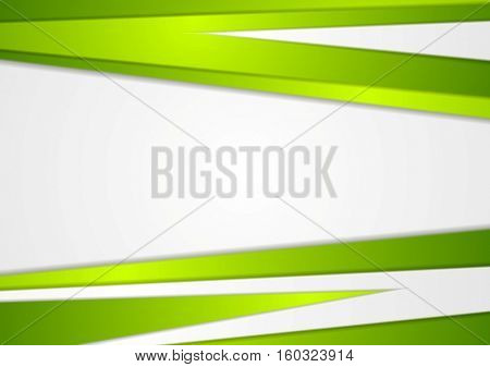 Abstract corporate green stripes concept background