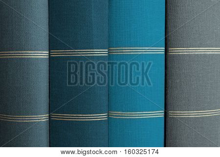 Stack Of Books, Book Spines In Row