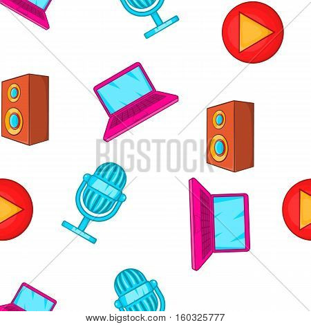 Electronics pattern. Cartoon illustration of electronics vector pattern for web