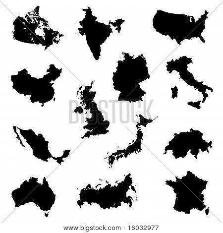 Länder Silhouetten