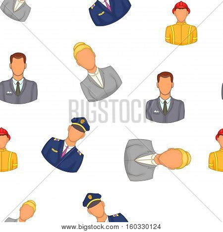 Profession pattern. Cartoon illustration of profession vector pattern for web