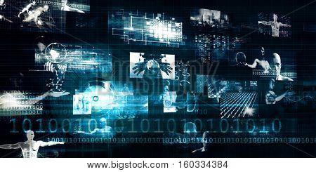 Digital Marketing Platform and Effective Technology Promotion 3d Render