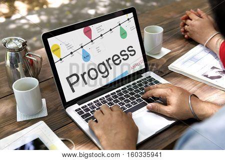 Statistics Research Results Progress Concept