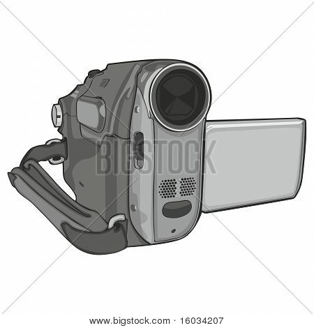 isolated video cam on white background