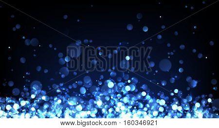Abstract festive blue luminous background. Vector illustration.