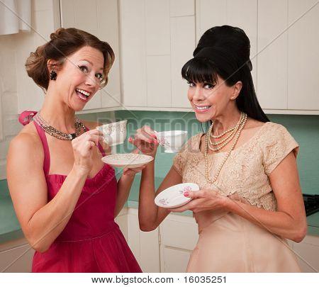 Women Enjoying Coffee