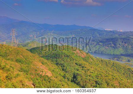 Tai Lam Chung Reservoir At Hk