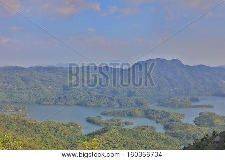 Tai Lam Chung Reservoir In Hong Kong