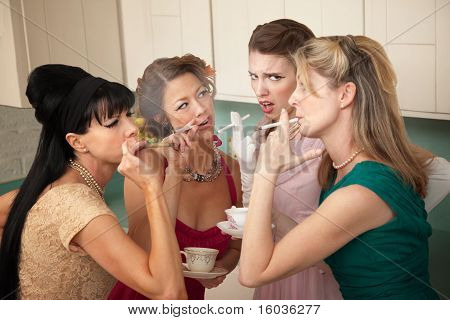 Four Women Smoking