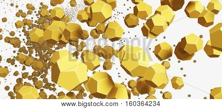 a yellow 3D Abstract round objekt Technology Background