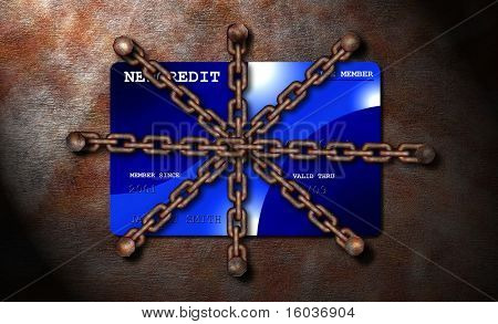 A chained credit card