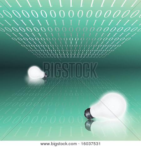 Bulbs and binary code
