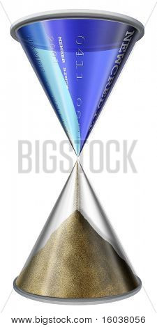 Credit Card Hourglass on white