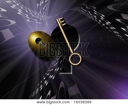 Binary Nest egg and key