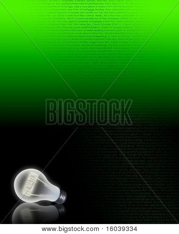Hi-res Light bulb filament of INNOVATE