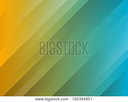 Abstract modern stripped background with shadow lines - yellow to blue shades