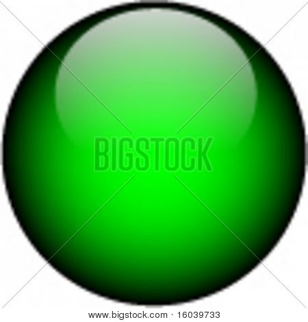 Vector Green Glass Button