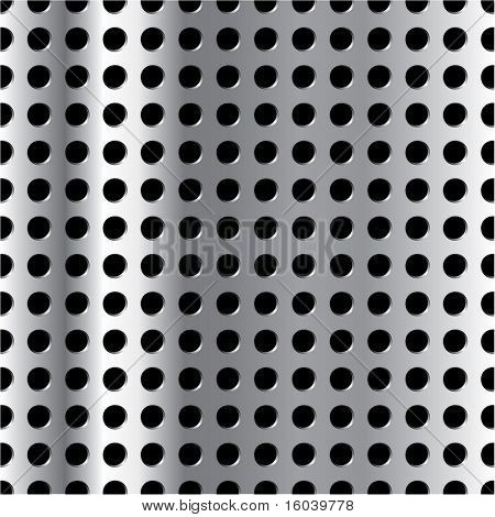 Vector vertically repeatable metal grid