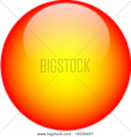 Orange yellow glass web button