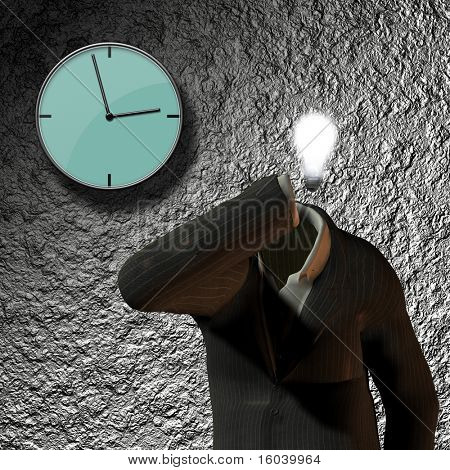 Clock, suit idea