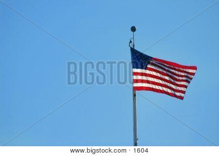 US Flag On Pole