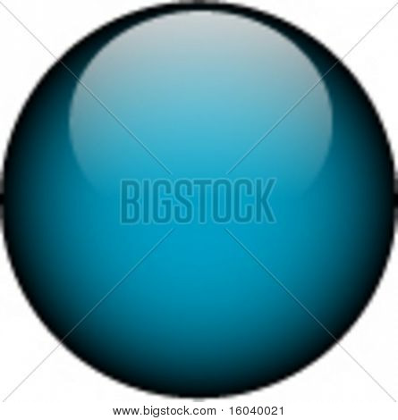 Vector Blue Glass Button