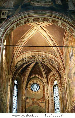 Nave Of Scrovegni Chapel In Padua City