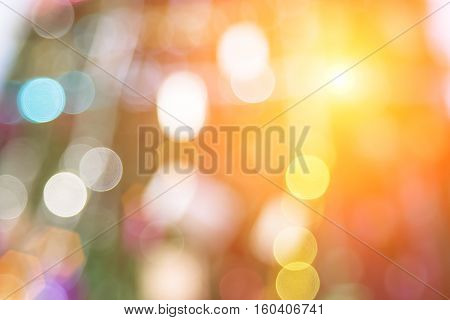 Blurred christmas tree lights on background.design effect focus happy holiday party glow texture white wall paper bokeh sun suny star shiny soft plain warm flare blur night light red de xmas gray year