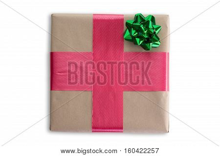Pretty Decorated Christmas Gift With Ribbon