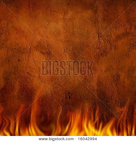 Seamless Repeatable Horizontal Fire and Wall Pattern