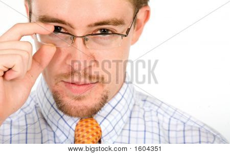 Business Man Portrait With Glasses
