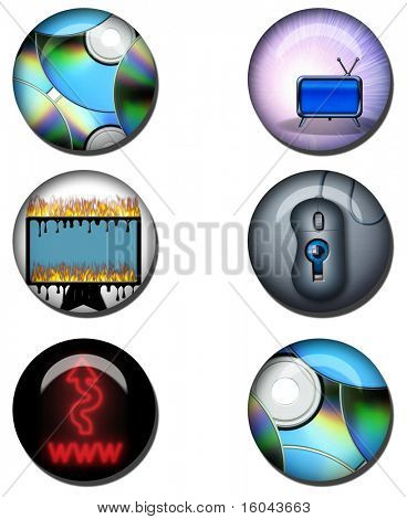Image Based Glossy web orbs