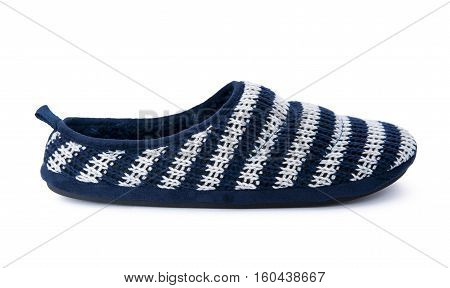 Soft slipper isolated on the white background