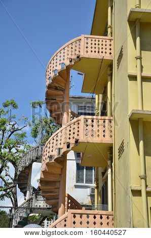 Colorful Spiral Staircases