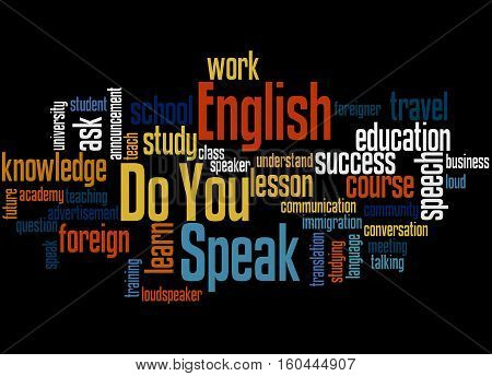 Do You Speak English, Word Cloud Concept 4
