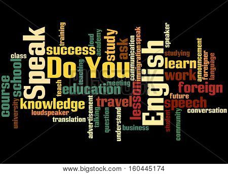 Do You Speak English, Word Cloud Concept 7