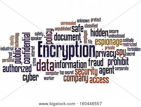 Encryption, Word Cloud Concept 3