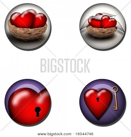Web Buttons of love