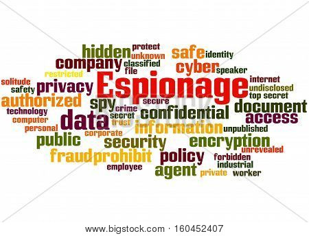 Espionage, Word Cloud Concept 5
