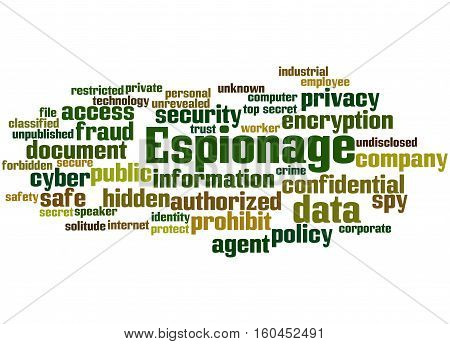 Espionage, Word Cloud Concept 6
