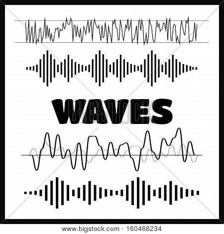 Sound waves concept. Sound waves vector. Sound waves sign and symbol