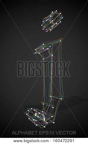 Abstract illustration of a Multicolor sketched J with Transparent Shadow. Hand drawn 3D J for your design. EPS 10 vector illustration.