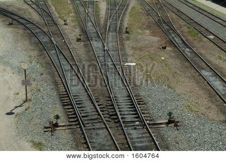 Convergencia de pista de tren