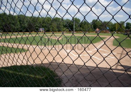 Little League Field Behind Gate
