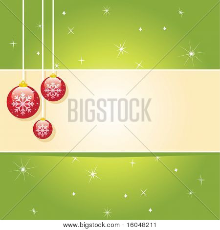 Christmas card. vector  background with space for text.